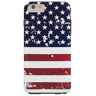 American Flag 2 Tough iPhone 6 Plus Case