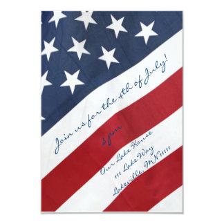 American Flag 4th of July Invitation