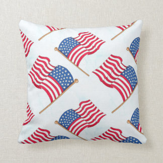 American Flag 4th Of July Red White Blue Cushion