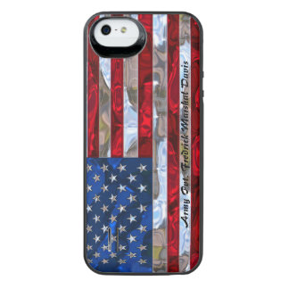 American Flag 5/5s Monogram iPhone SE/5/5s Battery Case