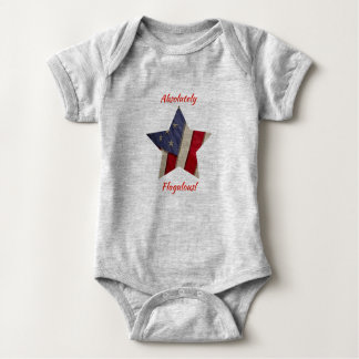 American Flag - Absolutely Flagulous ( Fabulous) Baby Bodysuit