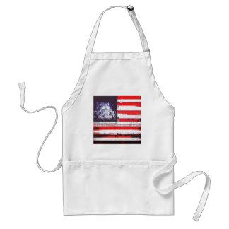 American Flag Abstract Apron