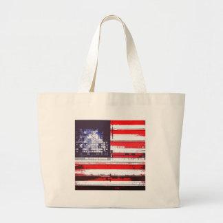 American Flag Abstract Bag