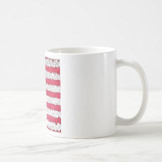 American Flag Abstract Basic White Mug