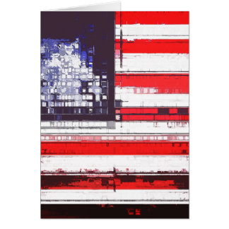 American Flag Abstract Card