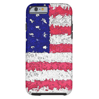 American Flag Abstract Tough iPhone 6 Case