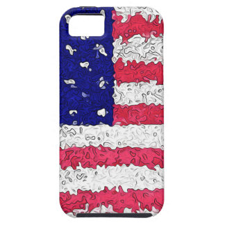 American Flag Abstract Case For The iPhone 5