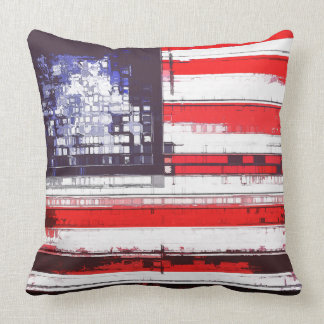 American Flag Abstract Pillow