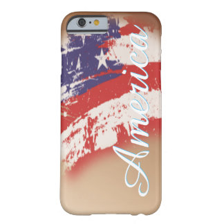 American Flag Abstract Distressed Barely There iPhone 6 Case