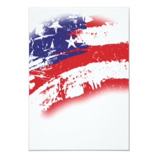 American Flag Abstract Distressed 9 Cm X 13 Cm Invitation Card