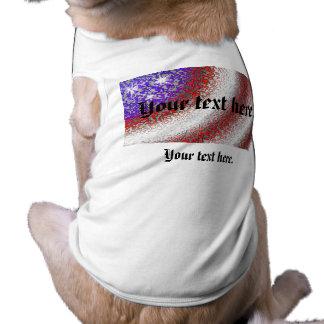 American Flag Abstract - Dog Shirt