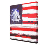 American Flag Abstract Gallery Wrap Canvas
