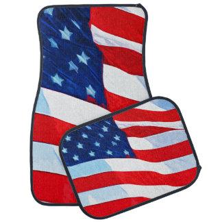 American Flag Abstract Impressionism Car Mat