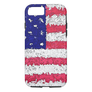 American Flag Abstract iPhone 7 Case