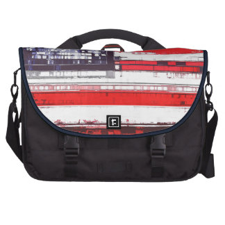 American Flag Abstract Laptop Commuter Bag