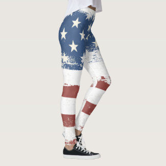 American Flag Abstract Leggings