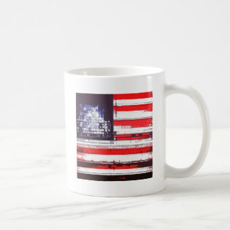 American Flag Abstract Mug
