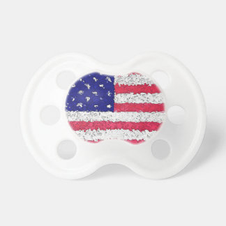 American Flag Abstract Pacifier