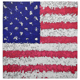 American Flag Abstract Printed Napkins