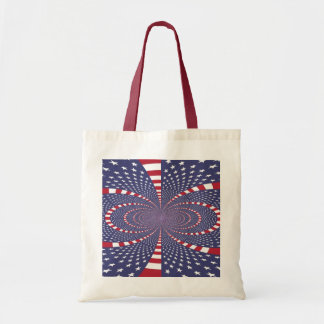 American Flag Abstract Canvas Bags