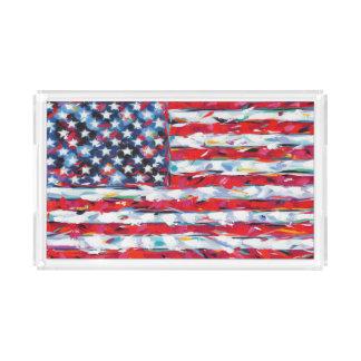 American Flag Acrylic Tray