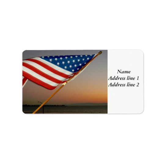 American flag address labels