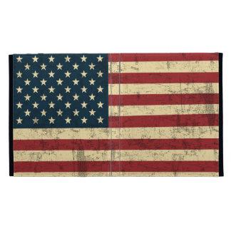 American Flag Aged Distressed iPad Folio Covers