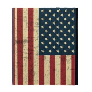 American Flag Aged Distressed iPad Folio Case