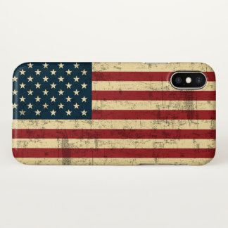 American Flag Aged Distressed iPhone X Case
