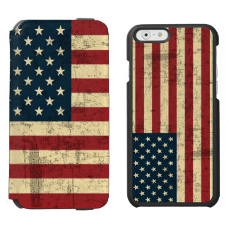 American Flag Aged Distressed Incipio Watson™ iPhone 6 Wallet Case