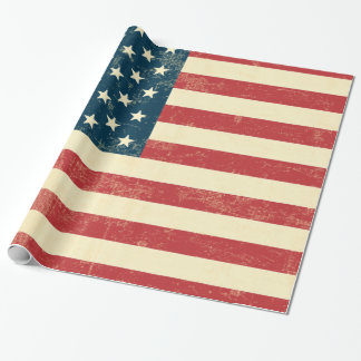 American Flag Aged faded