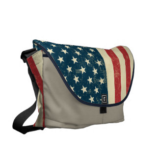 American Flag Aged Faded Commuter Bags