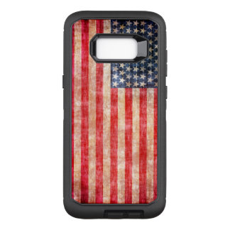 American Flag Aged OtterBox Defender Samsung Galaxy S8+ Case