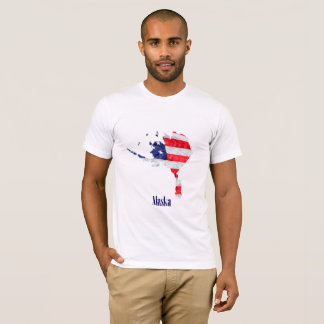 American Flag Alaska United States T-Shirt