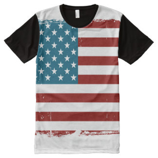American Flag All-Over Print T-Shirt