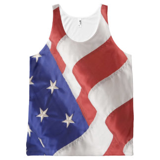 American Flag All-Over Printed Unisex Tank All-Over Print Tank Top