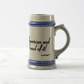 American Flag - American and Proud of it! - dis Coffee Mugs