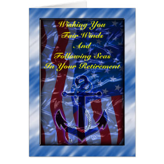 American flag and Anchor Greeting Card