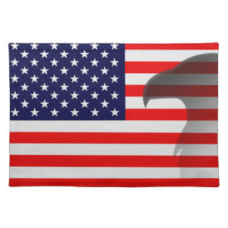 American Flag And Bald Eagle Placemats