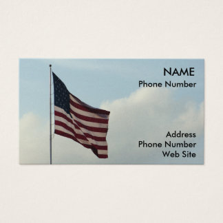 American Flag and Blue Sky Business Card