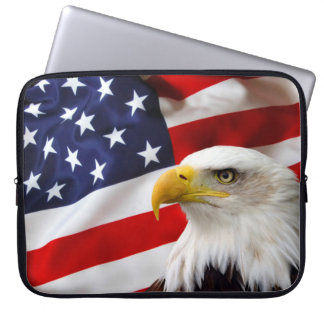 "American Flag and Eagle 15"" Laptop Sleeve"