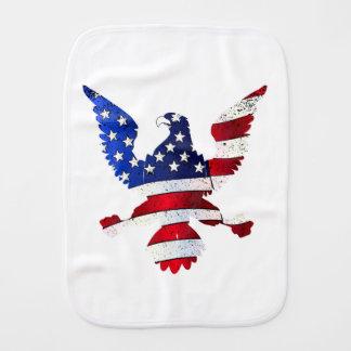 American Flag And Eagle Burp Cloth