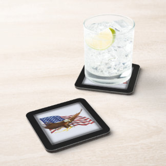 American Flag and Eagle Coaster