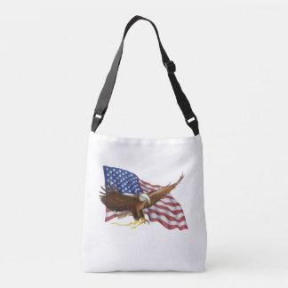 American Flag and Eagle Crossbody Bag
