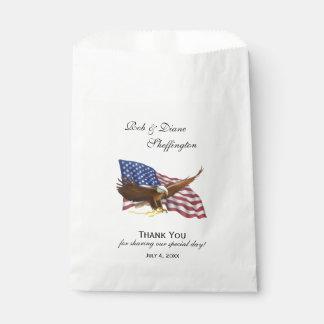 American Flag and Eagle Favor Bag