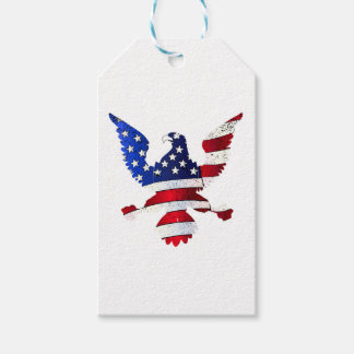 American Flag And Eagle Gift Tags