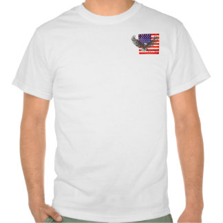 American flag and eagle line art god bless t-shirt