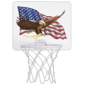 American Flag and Eagle Mini Basketball Hoop