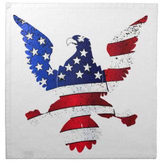 American Flag And Eagle Napkin