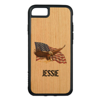American Flag and Eagle Personal Carved iPhone 8/7 Case